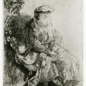 Rembrandt: Jacob caressing Benjamin
